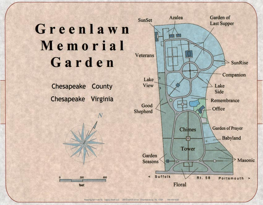 Site map of our grounds